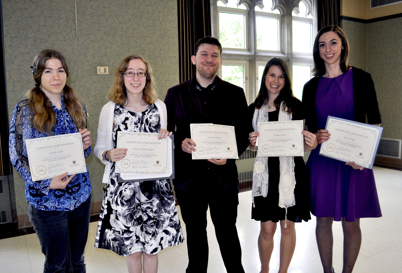 Students at awards ceremony.