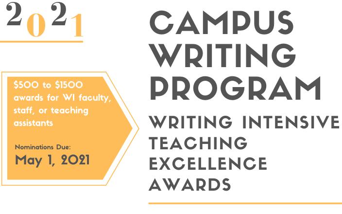 2021 teaching awards graphic