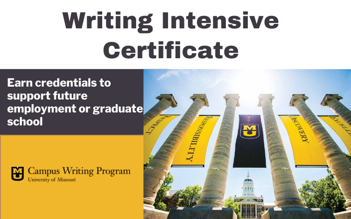 writing intensive certificate graphic